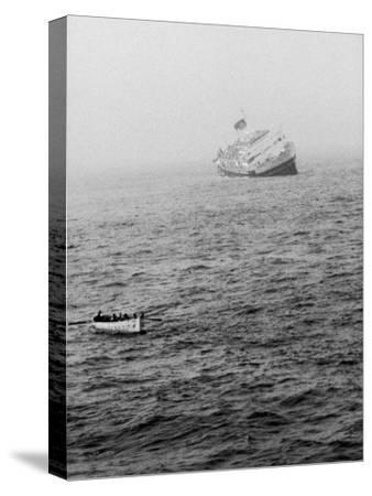 Italian Liner Andrea Doria Sinking in Atlantic after Collision with Swedish Ship Stockholm