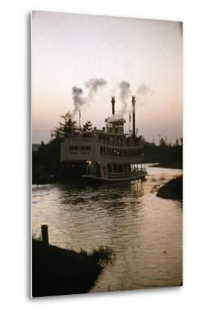 July 17 1955: Disneyland's Mark Twain River Boat, Anaheim, California