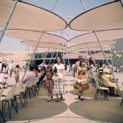 July 17 1955: Tomorrowland's Space Port in Disneyland Amusement Park, Anaheim, California
