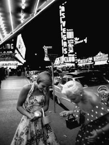 Las Vegas Chorus Girl, Kim Smith, and Her Roommate after Leaving a Casino by Loomis Dean