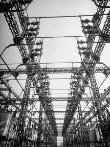 """One of Los Angeles Three Big Power Distributing Stations, Station """"E"""", in San Fernando Valley by Loomis Dean"""