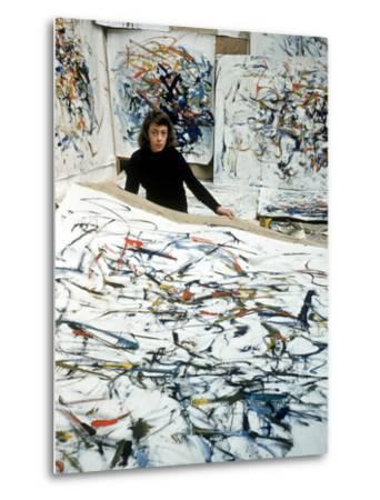 Portrait of American Born Painter Joan Mitchell in Her Studio