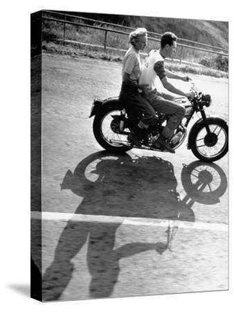 Riders Enjoying Motorcycle Riding Double