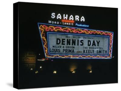 Sahara Sign Advertising Dennis Day. Las Vegas, 1955