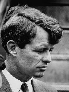 Sen. Robert F. Kennedy Arriving at La Guardia Airport by Loomis Dean