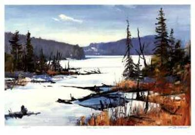 Loon Lake in April-Murray McCheyne Stewart-Limited Edition