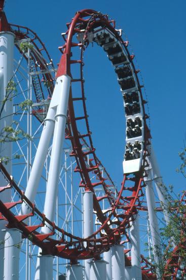 Loop Section of a Rollercoaster Ride-Kaj Svensson-Photographic Print