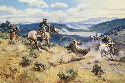 Loops and Swift Horses are Surer than Lead-Charles Marion Russell-Premium Giclee Print