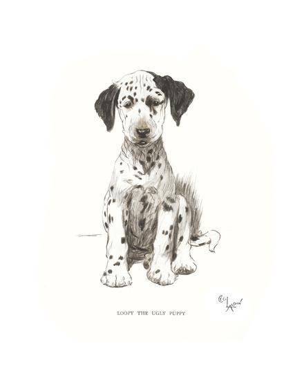 Loopy, the Ugly Puppy-Cecil Aldin-Premium Giclee Print