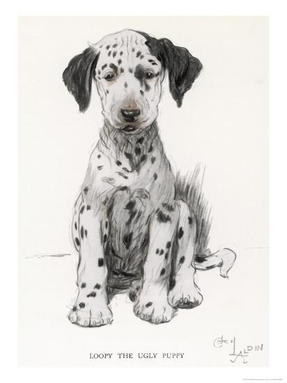 Loopy the Ugly Puppy-Cecil Aldin-Giclee Print