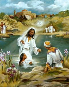Baptism at River's Edge by Lopez