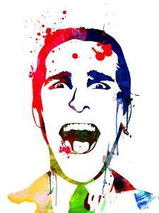 American Psycho Watercolor by Lora Feldman