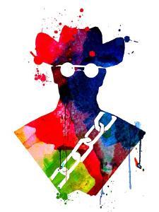 Django Watercolor by Lora Feldman