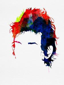 Dylan Watercolor by Lora Feldman
