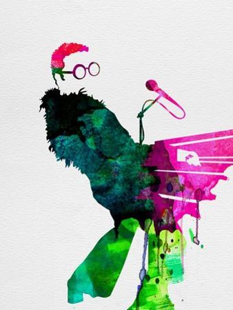 Elton Watercolor by Lora Feldman