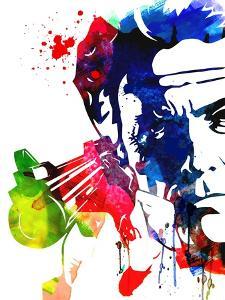 Harry with a Gun Watercolor 2 by Lora Feldman