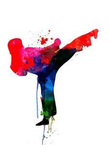 Karate Kid Watercolor by Lora Feldman