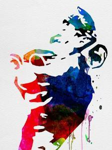 Mahatma Gandhi Watercolor by Lora Feldman