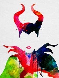 Maleficent Watercolor by Lora Feldman