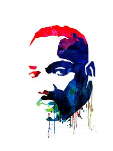 Martin Luther King, Jr. Watercolor by Lora Feldman