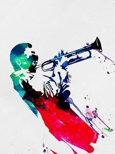 Miles Watercolor by Lora Feldman