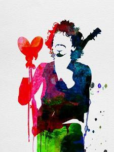 Santana Watercolor by Lora Feldman