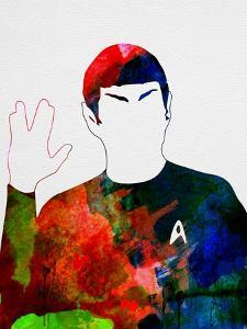 Spock Watercolor by Lora Feldman