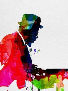 Thelonious Watercolor by Lora Feldman