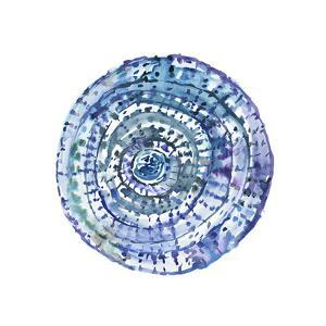 Watery Blue Mandala 1 by Lora Gold