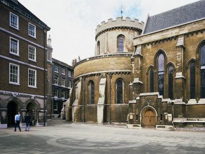The Temple Church, Built Between 1185 and 1240, Fleet Street, London, England