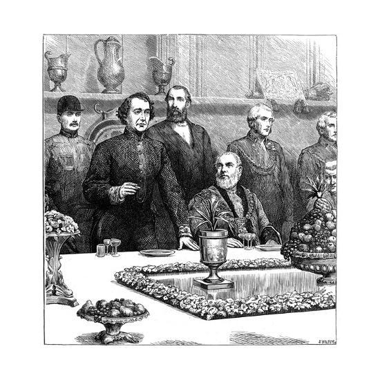 Lord Beaconsfield at a Banquet in the Guildhall, Late 19th Century- Swain-Giclee Print