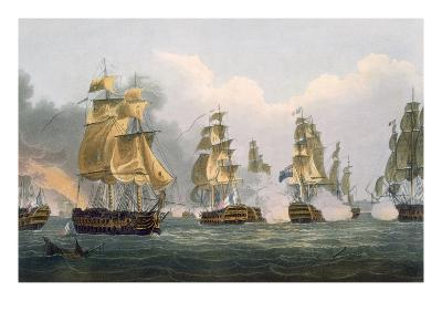 Lord Bridport's Action Off Port L'Orient, June 23rd 1795-Thomas Whitcombe-Giclee Print