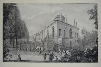 Lord Burlington's Neo-Palladian Villa at Chiswick and the Jacobean House (Pen and Ink with Wash on -Jacques Rigaud-Giclee Print