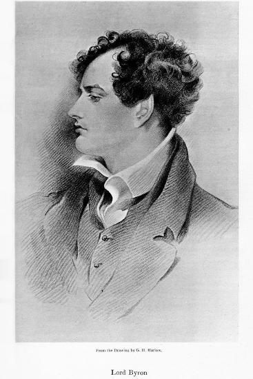 Lord Byron, Anglo-Scottish Poet, 19th Century-George Henry Harlow-Giclee Print