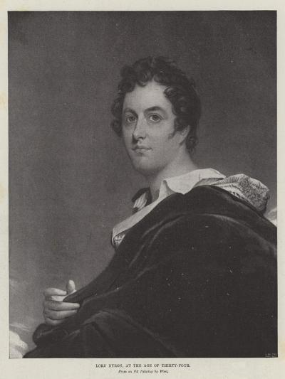 Lord Byron, at the Age of Thirty-Four-Benjamin West-Giclee Print