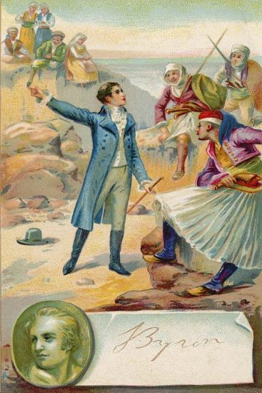 Lord Byron, English Poet--Giclee Print