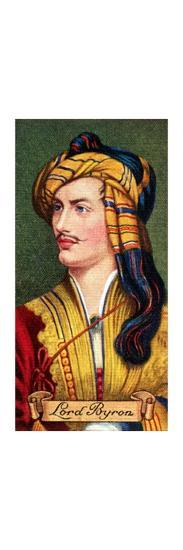 Lord Byron, taken from a series of cigarette cards, 1935. Artist: Unknown-Unknown-Giclee Print