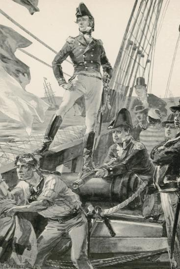 Lord Cochrane Signals for Assistance to Attack the French Fleet-William Heysham Overend-Giclee Print