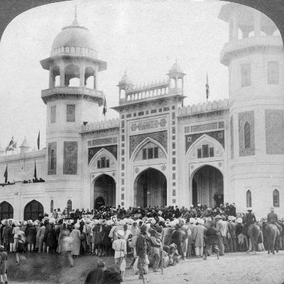Lord Curzon Opening the Indian Art Exhibition, Delhi, India, 1903-Underwood & Underwood-Giclee Print