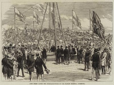 Lord Derby Laying the Foundation-Stone of the Stanley Hospital, Liverpool--Giclee Print