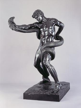 An Athlete Wrestling with a Python by Lord Frederic Leighton