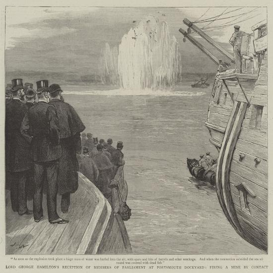Lord George Hamilton's Reception of Members of Parliament at Portsmouth Dockyard-Joseph Nash-Giclee Print
