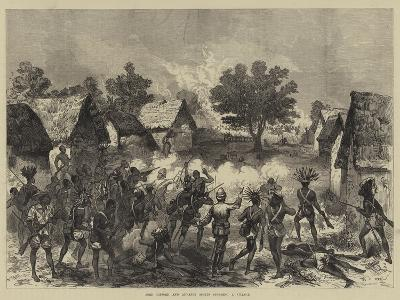 Lord Gifford and Advance Scouts Storming a Village--Giclee Print