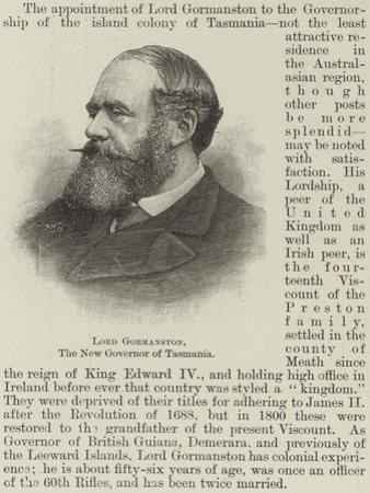Lord Gormanston, the New Governor of Tasmania