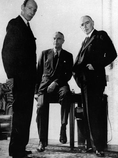 Lord Halifax, Will Clayton and Maynard Keynes, C.1943--Photographic Print