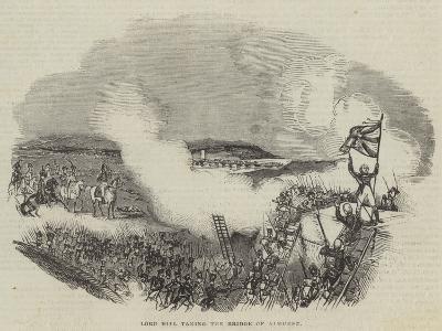 Lord Hill Taking the Bridge of Almurez--Giclee Print