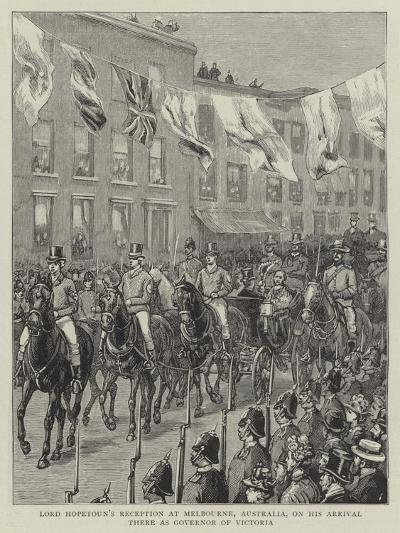 Lord Hopetoun's Reception at Melbourne, Australia, on His Arrival There as Governor of Victoria--Giclee Print