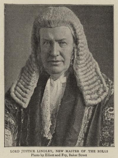 Lord Justice Lindley, New Master of the Rolls--Giclee Print