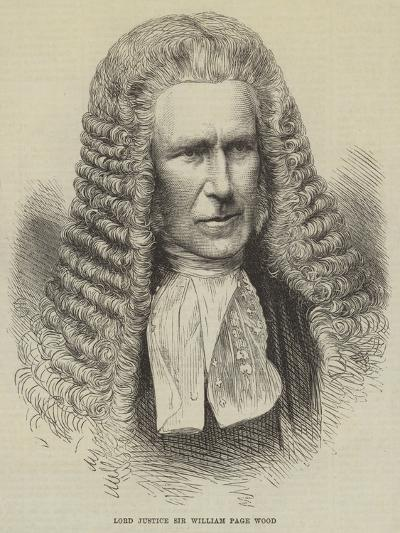 Lord Justice Sir William Page Wood--Giclee Print