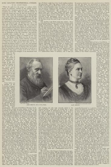 Lord Kelvin's Professorial Jubilee--Giclee Print
